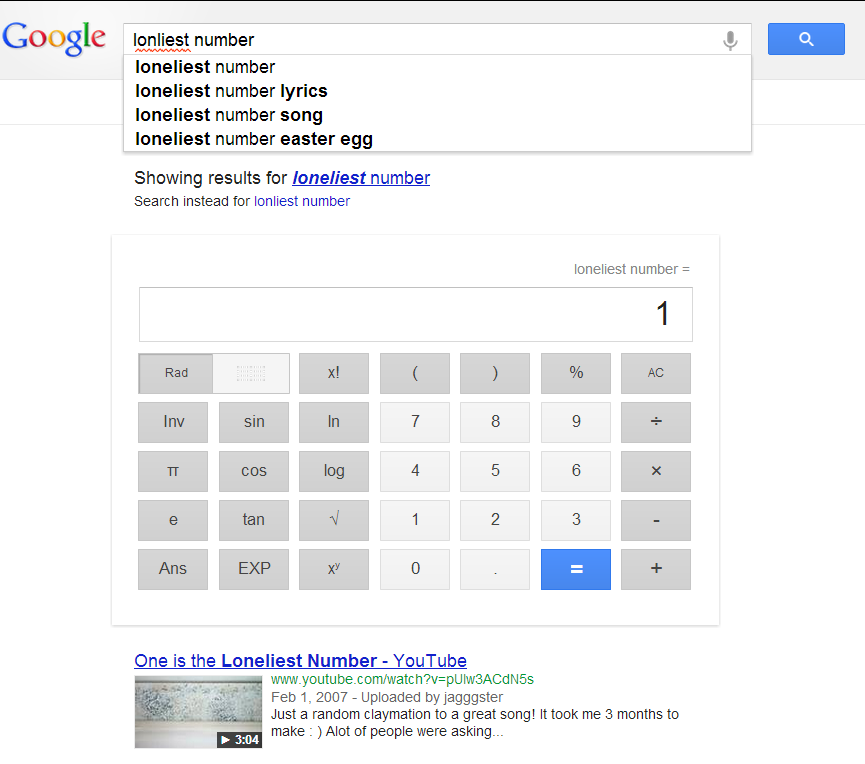 loneliest number - Google Search