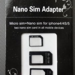【送料込み118円】のNano/MicroSIM変換アダプター3点セットのレビュー