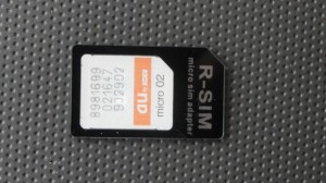 au Micro ICカードを標準SIMに変換