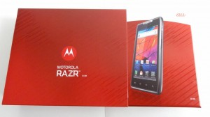 Motorola IS12M RAZR パッケージ横