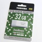 【レビュー】1700円!! 信頼の東芝USBメモリー32GB UHYBS-032GH