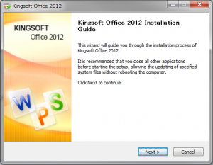 Kingsoft Office install 2