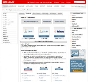 001. JDK install from oracle