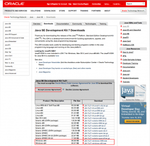002. JDK install from oracle