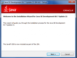 012. JDK install from oracle