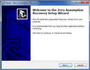 13. Zero Assumption Recovery Installing