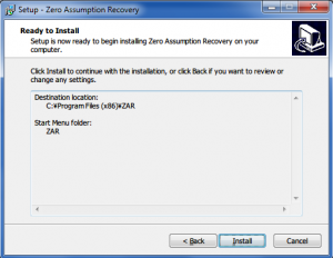 19. Zero Assumption Recovery Installing