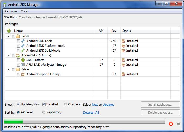 Android SDK インストール手順