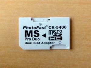 MicroSDHC to MemoryStick メモステ ProDuo変換