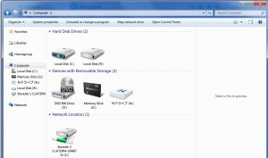 Memory Stick PC drive