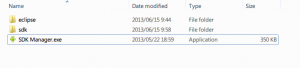 Note  Android SDK exe manager