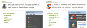 Speccy & CCleaner