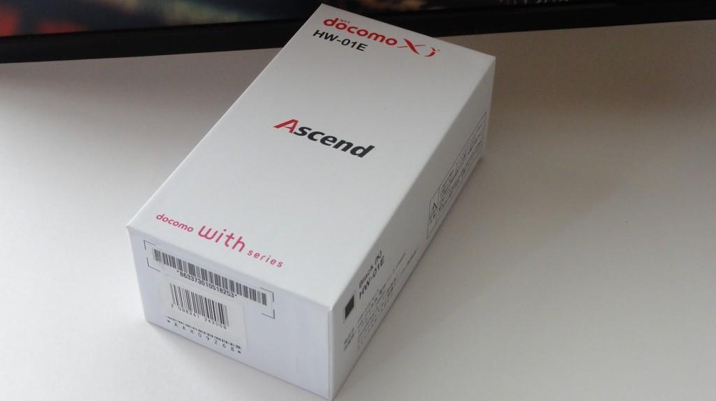 Huawei Ascend HW-01E パッケージ