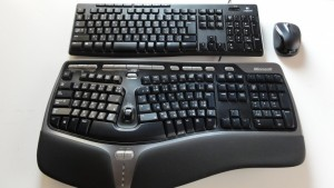 Microsoft wired keyboard 4000 review compared with logicool k270 (2)