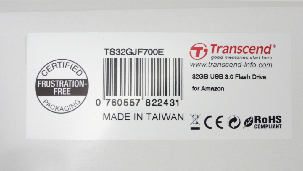 Transcend  TS32GJF700E USB memory with USB2.0 package