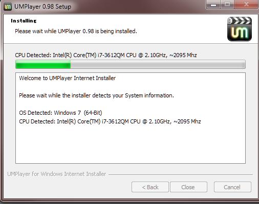 16 UMplayer installing