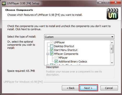 19 UMplayer installing