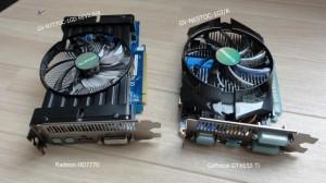 comparison of gigabite Radeon HD7770 and GeForce GTX650 Ti (1)