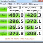 Benchmarking result of SanDisk SSD SDSSDHP-256G-G25AZ