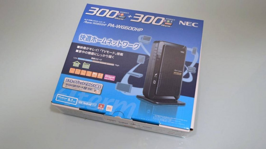 NEC Aterm PA-WG600HP Package (2)