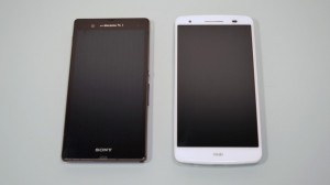 Comparison with Xperia Z1 and isai LGL22
