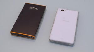 Lumsing Power bank battery PBJ-6200 with xperia z1 compact