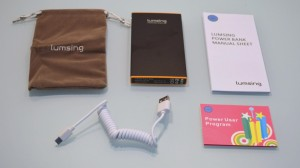 attachments of Lumsing Power bank battery PBJ-6200