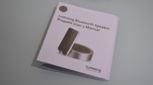 review of Lumsing Prophet Bluetooth loudspeaker manual
