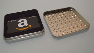 Amazon Gift Diamond plate Silver Plate (2)