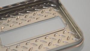 Amazon Gift Diamond plate Silver Plate (4)