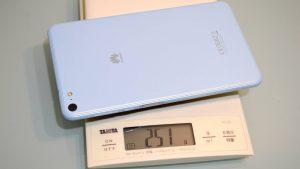 SIM+microSDカード込の重さ