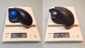 M570tとMX ERGO(MXTB1s)の重さ比較